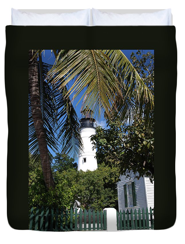 Photography Duvet Cover featuring the photograph The Lighthouse In Key West II by Susanne Van Hulst