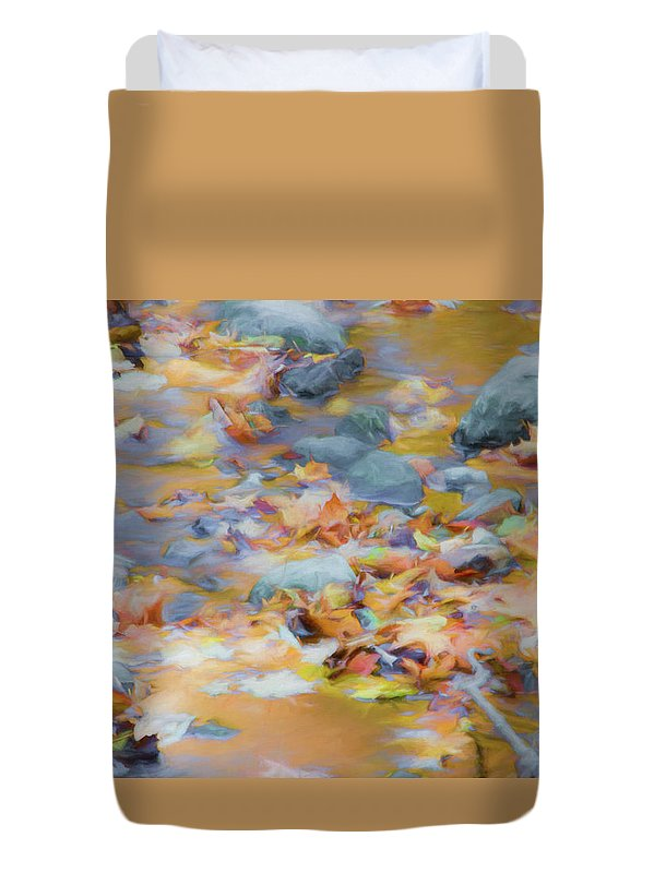 Abstracts Duvet Cover featuring the photograph The Lightness of Autumn by Marilyn Cornwell
