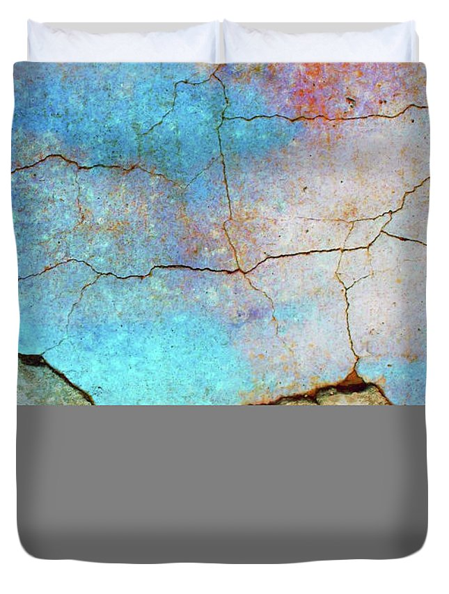 Abstract Duvet Cover featuring the photograph The Lightning Storm by Tara Turner
