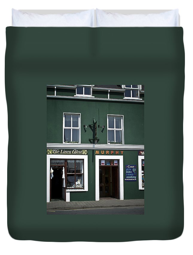 Irish Duvet Cover featuring the photograph The Linen Chest Dingle Ireland by Teresa Mucha