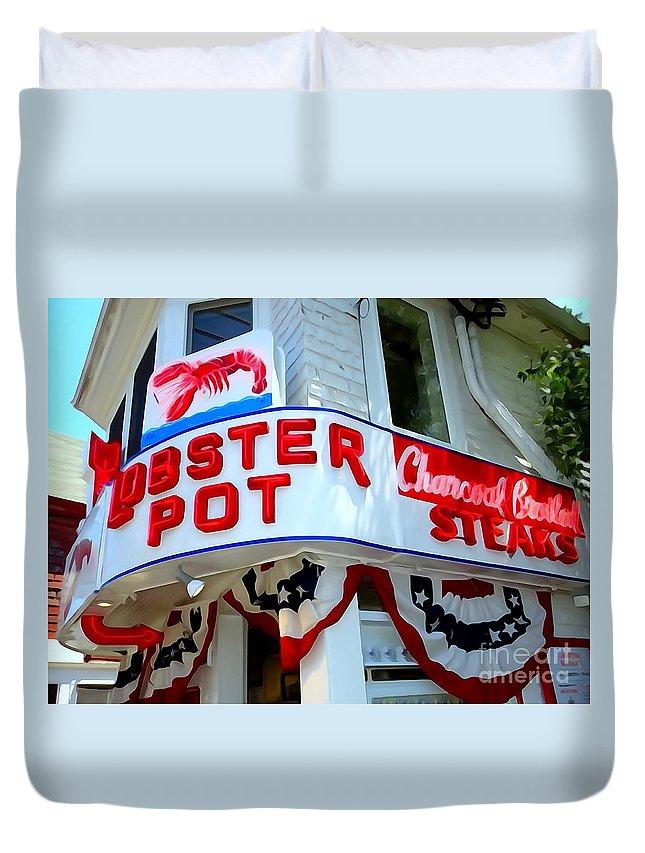 Digital Art Duvet Cover featuring the digital art The Lobster Pot #1 by Ed Weidman