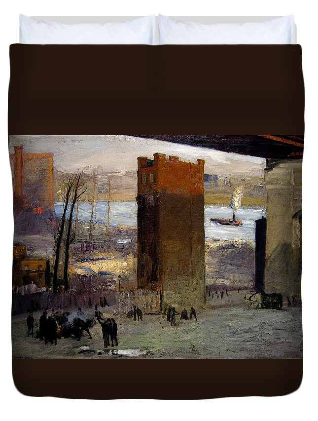 George Bellows Duvet Cover featuring the painting The Lone Tenement by George Bellows