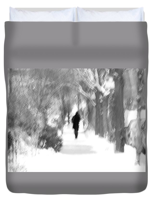 Blur Duvet Cover featuring the photograph The Long December by Dana DiPasquale