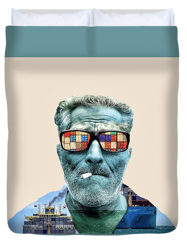 Pop Art Duvet Cover featuring the photograph The Longshoreman by Dominic Piperata