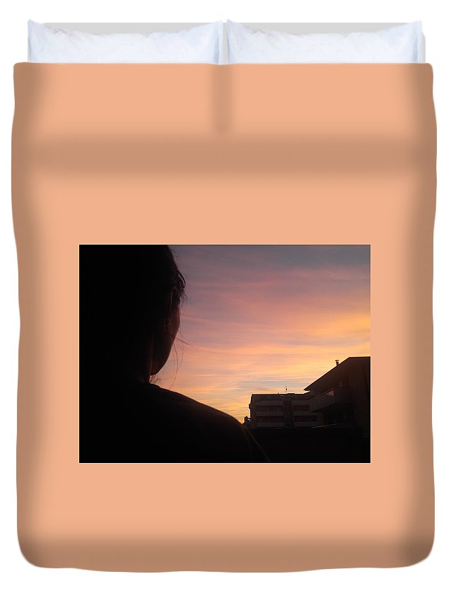 Duvet Cover featuring the photograph Roxana The Love Of My Life by Giuseppe Epifani