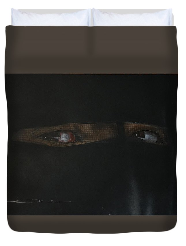 Burqa Duvet Cover featuring the painting The Lovely Bride Hyphemas Portrait by Eric Dee