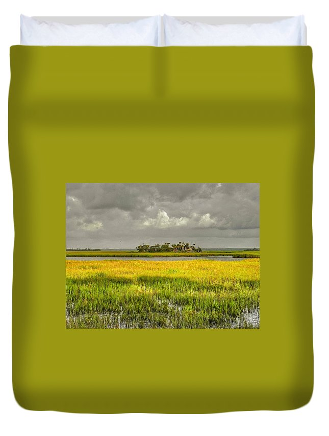 Marsh Duvet Cover featuring the photograph The Lovely Low Country by Patricia Greer