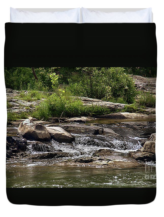 Nature Duvet Cover featuring the photograph The Lower Yough River by Tom Gari Gallery-Three-Photography