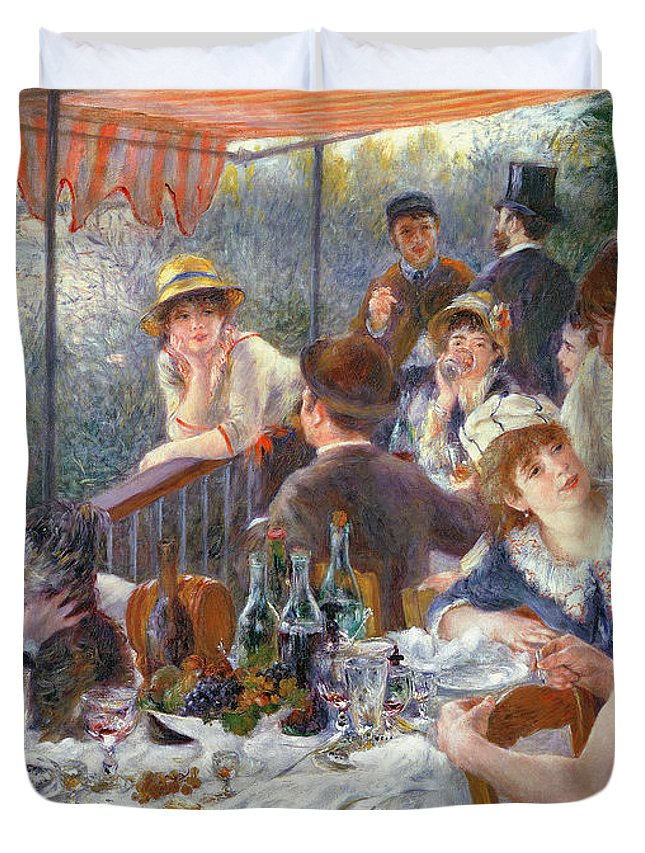 The Duvet Cover featuring the painting The Luncheon of the Boating Party by Pierre Auguste Renoir