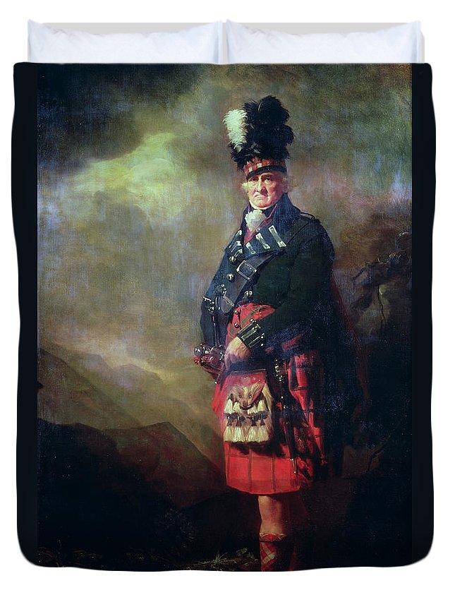 Kilt Duvet Cover featuring the painting The Macnab by Sir Henry Raeburn