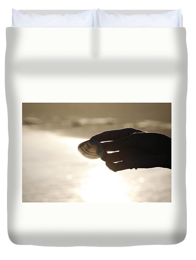Hand Duvet Cover featuring the photograph The Magic Of Light by Marilyn Hunt