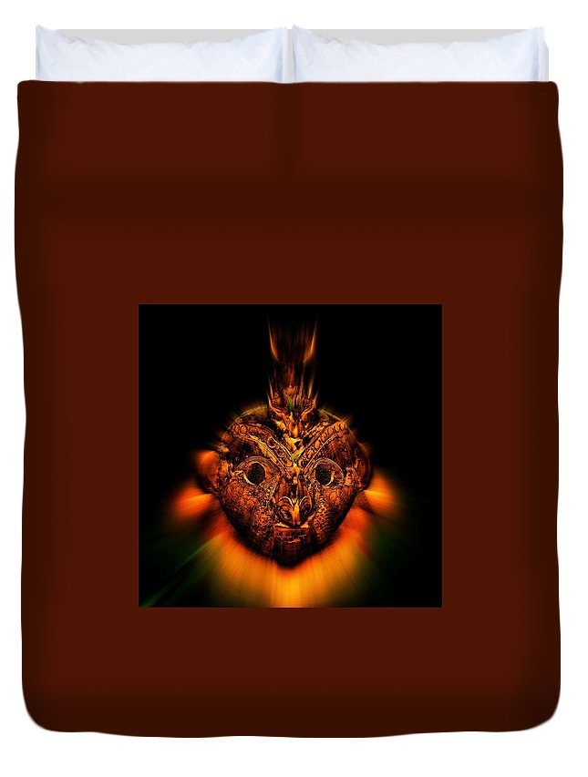 Native Art Duvet Cover featuring the photograph The Mask by Andy Klamar
