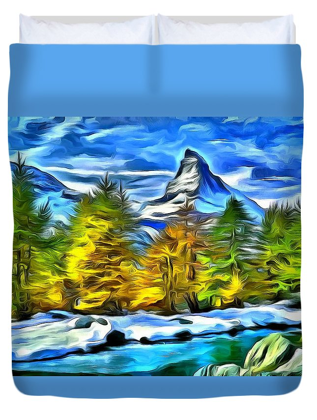 Matterhorn Mixed Media Duvet Covers