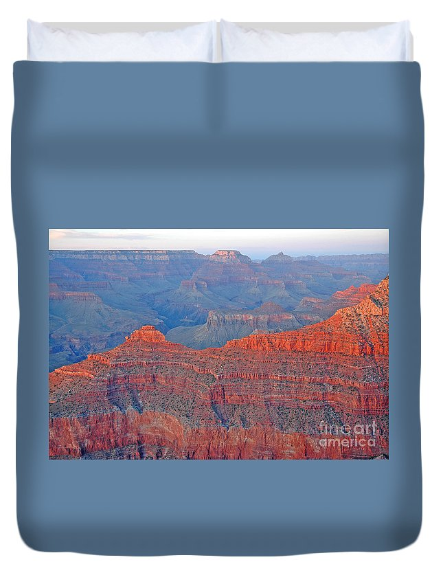 Arizona Duvet Cover featuring the photograph The Mighty Grand Canyon by Nick Boren