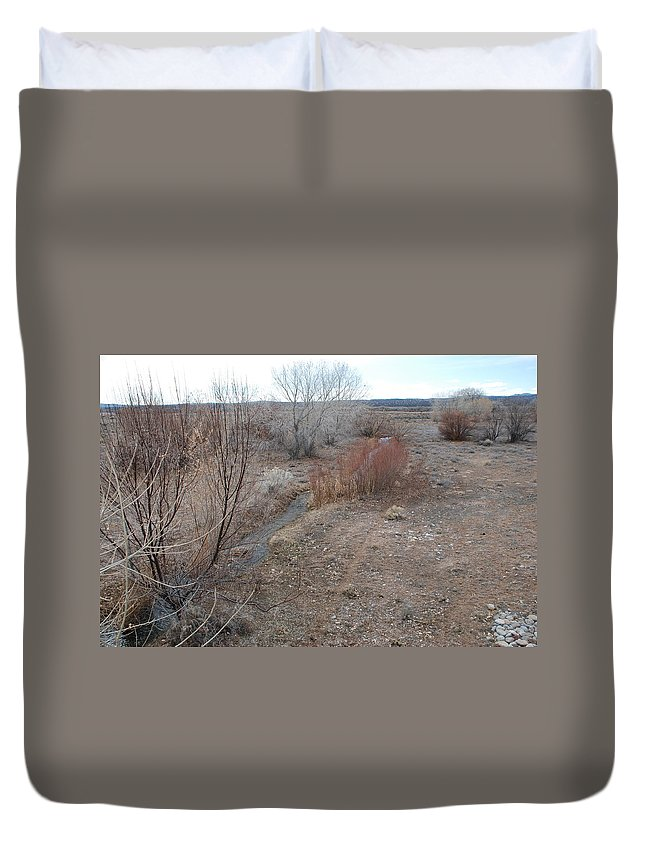 River Duvet Cover featuring the photograph The Mighty Santa Fe River by Rob Hans