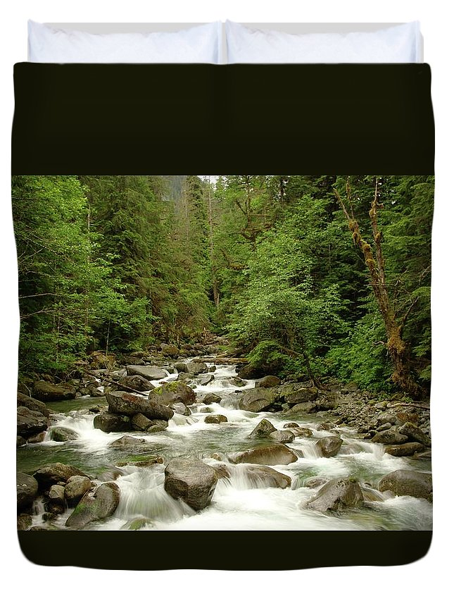 Water Duvet Cover featuring the photograph The Miller River by Jeff Swan