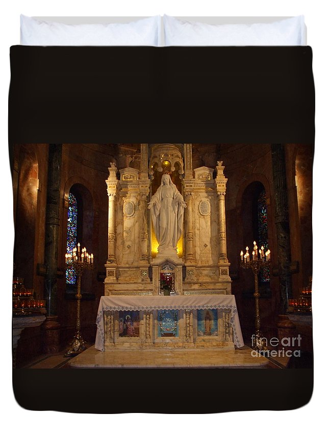 Duvet Cover featuring the photograph The Miraculous Medal Shrine 2 by Gerald Kloss