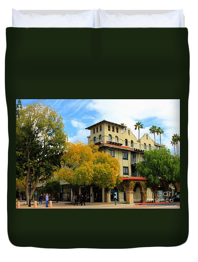 Adobe Duvet Cover featuring the photograph The Mission by James Eddy