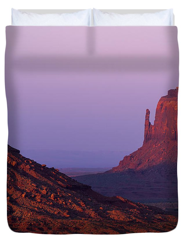 Mittens Duvet Cover featuring the photograph The Mittens by Chad Dutson