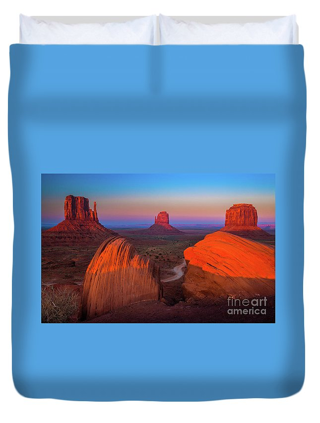 America Duvet Cover featuring the photograph The Mittens by Inge Johnsson