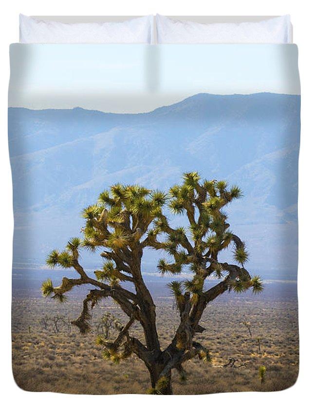 Mojave Desert Duvet Cover featuring the photograph The Mojave Desert by Matt McDonald
