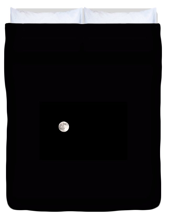 Clay Duvet Cover featuring the photograph The Moon by Clayton Bruster