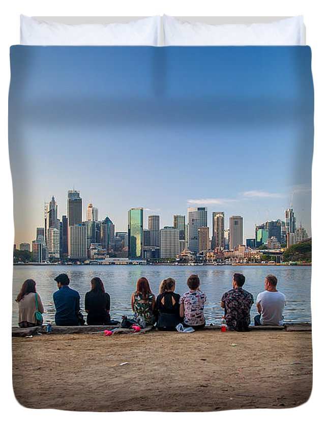 Sydney Duvet Cover featuring the photograph The Morning After by Az Jackson