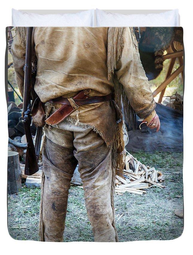 Mountain Man Duvet Cover featuring the photograph The Mountain Man by Carolyn Fox