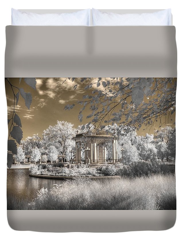 The Muny Duvet Cover featuring the photograph The Muny by Jane Linders