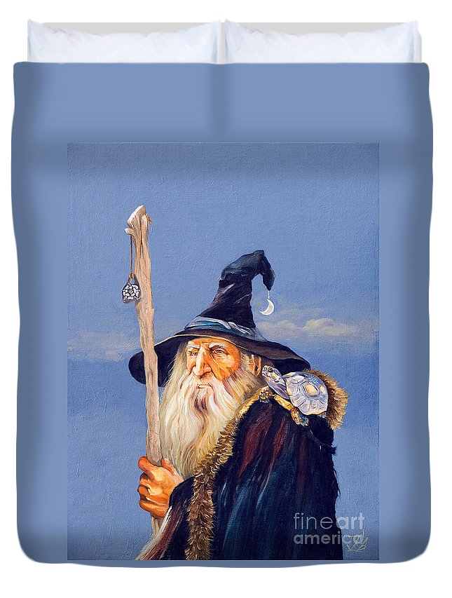 Wizard Duvet Cover featuring the painting The Navigator by J W Baker