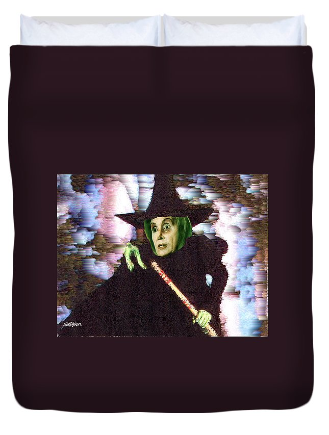 Wizard Of Oz Duvet Cover featuring the digital art The New Wicked Witch of the West by Seth Weaver