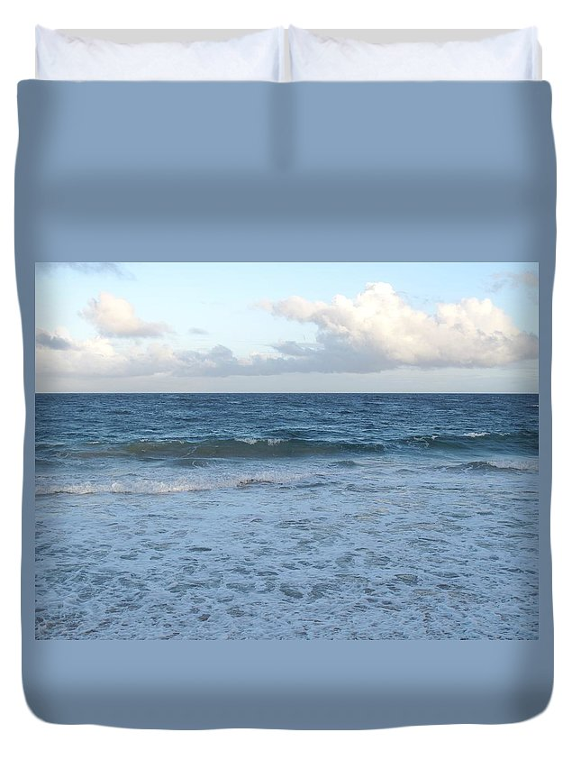 Surf Duvet Cover featuring the photograph The Next Wave by Ian MacDonald