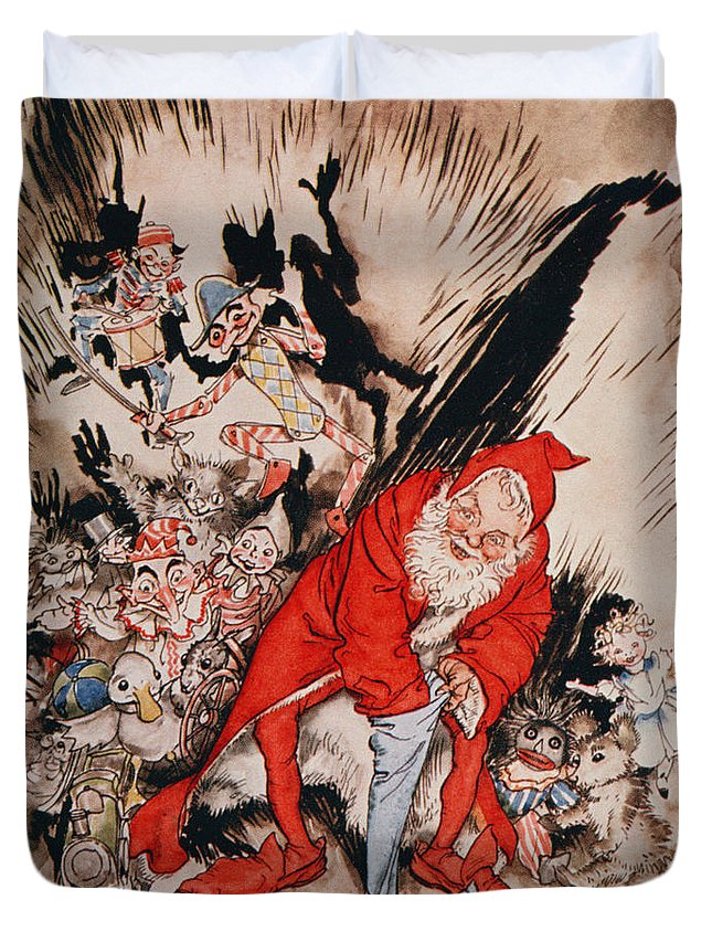 Arthur Duvet Cover featuring the drawing The Night Before Christmas by Arthur Rackham