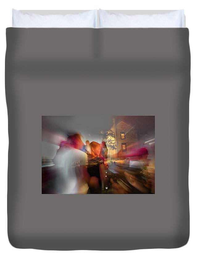 When Night Falls Duvet Cover featuring the photograph The Night Gerald Turned 60 by Jay Ressler