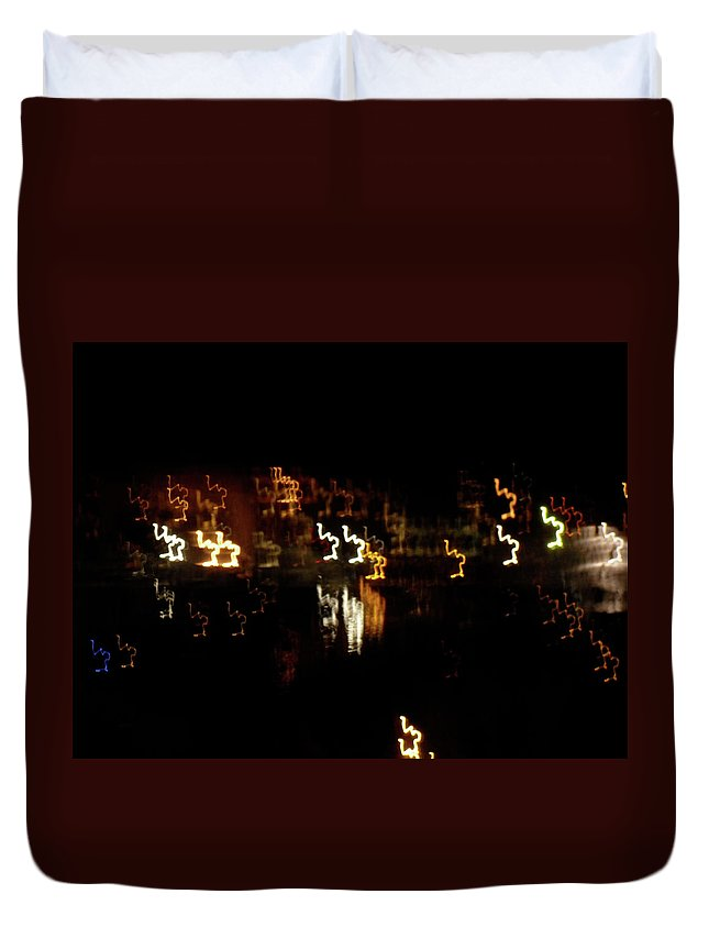 Inart Duvet Cover featuring the photograph The Night Race by Marwan George Khoury