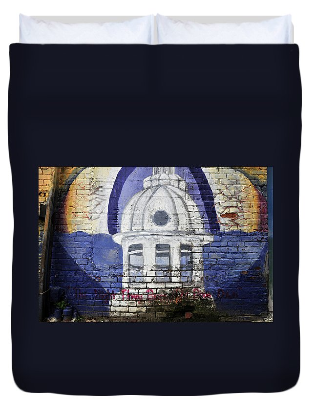 Fine Art Photography Duvet Cover featuring the photograph The Night They Drove Old Dixie Down by David Lee Thompson