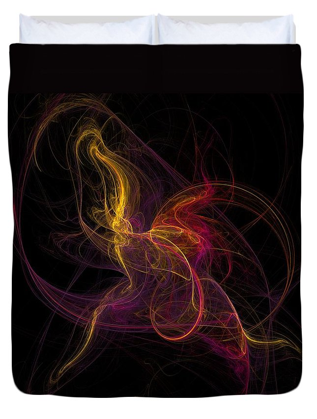 Abstract Digital Photo Duvet Cover featuring the digital art The November Dance by David Lane