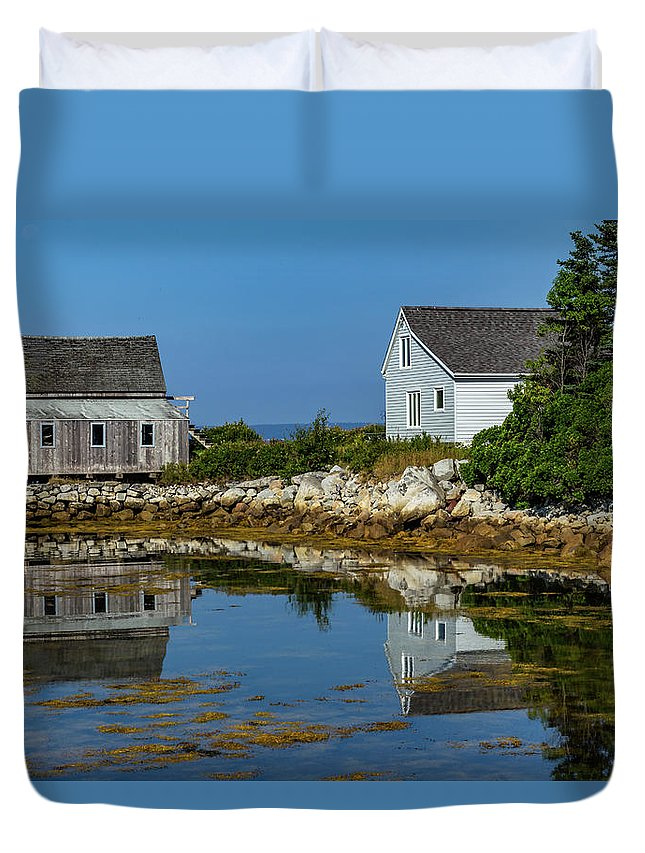 Fishing Duvet Cover featuring the mixed media The Old And New by Capt Gerry Hare