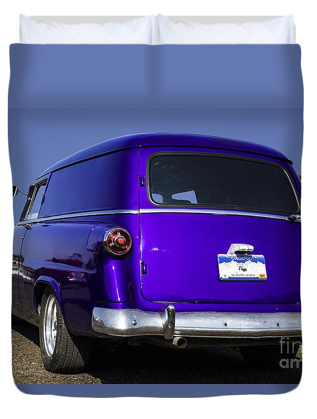 Delivery Duvet Cover featuring the photograph The Old Delivery by Steven Parker