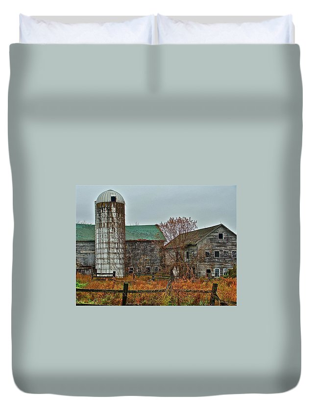 Rural Duvet Cover featuring the photograph The Old Farm by Diana Hatcher