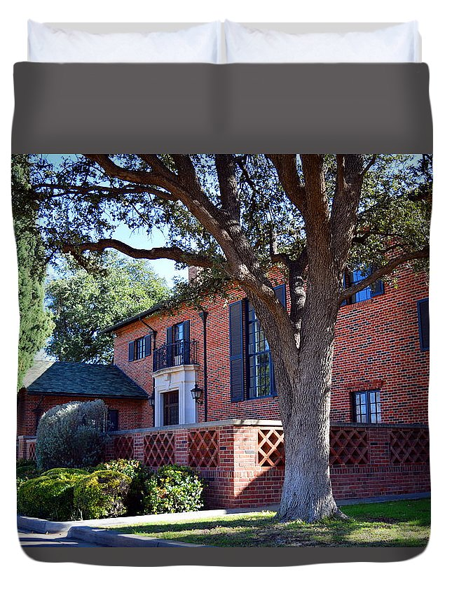 Museum Duvet Cover featuring the photograph The Old Front Porch by Ryon Atwood