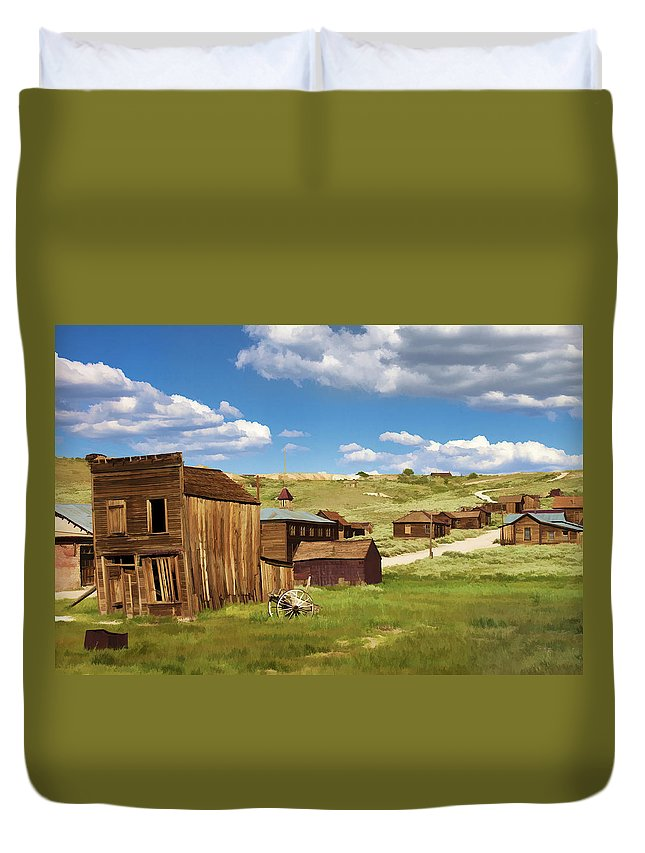 Bodie Duvet Cover featuring the photograph The Old Hotel by Ricky Barnard