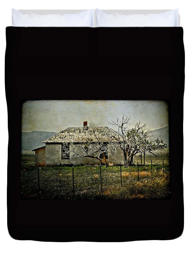 Landscape Duvet Cover featuring the photograph The Old House by Jill Smith