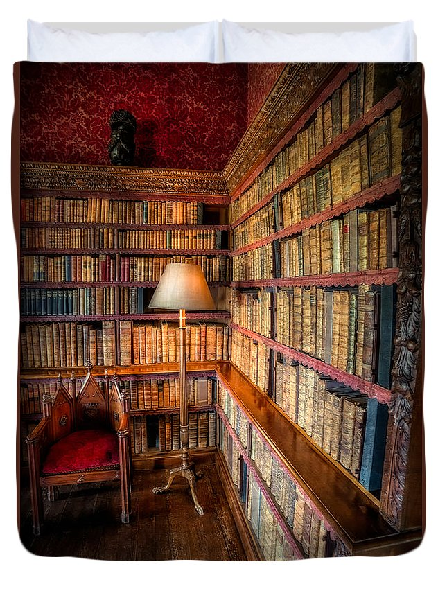 Library Duvet Cover featuring the photograph The Old Library by Adrian Evans