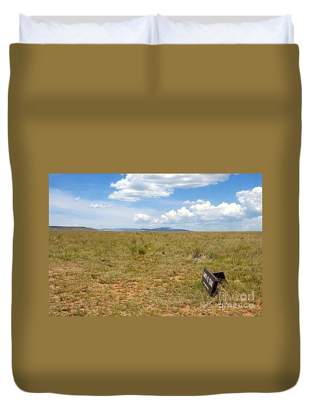 Santa Fe Trail Duvet Cover featuring the photograph The Old Santa Fe Trail by David Lee Thompson