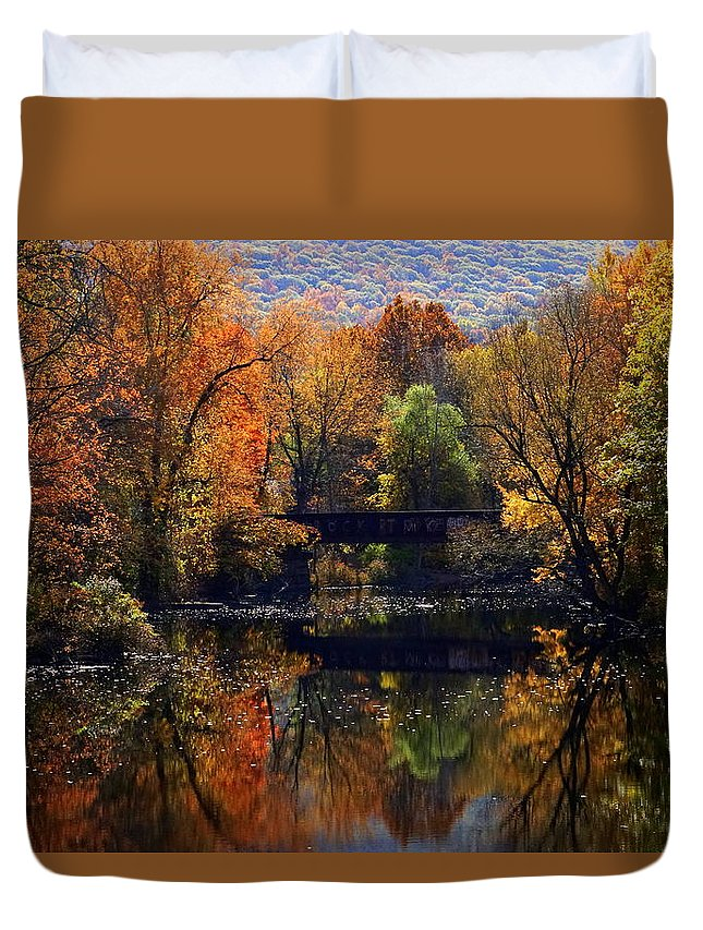 Glenham Duvet Cover featuring the photograph The Old Tressel by Scott Harrison