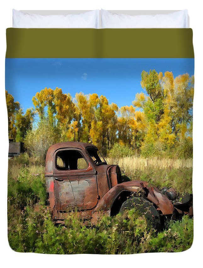 Truck Duvet Cover featuring the photograph The Old Truck Chama New Mexico by Kurt Van Wagner
