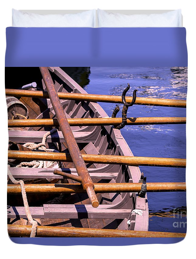 Charles Duvet Cover featuring the photograph The Old Way by Joe Geraci