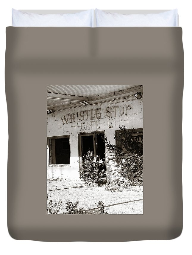 Whistle Stop Cafe Duvet Cover featuring the photograph The Old Whistle Stop Cafe by Marilyn Hunt