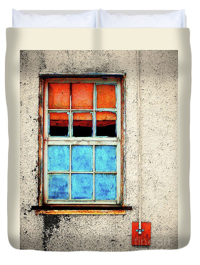 Window Duvet Cover featuring the photograph The Old Window by Tara Turner